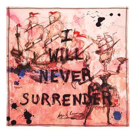 'I Will Never Surrender' Pocket Square