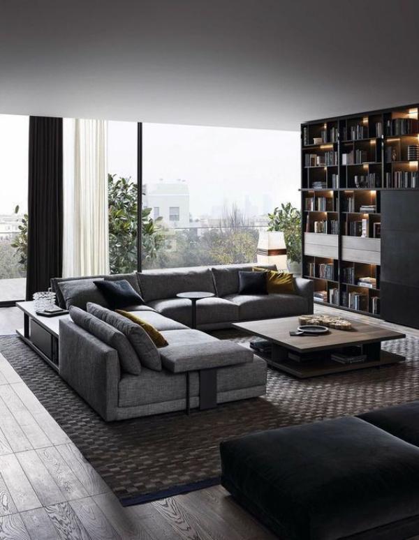 Eleganz auf männliche Art – diese Wohnzimmer sind typisch maskulin