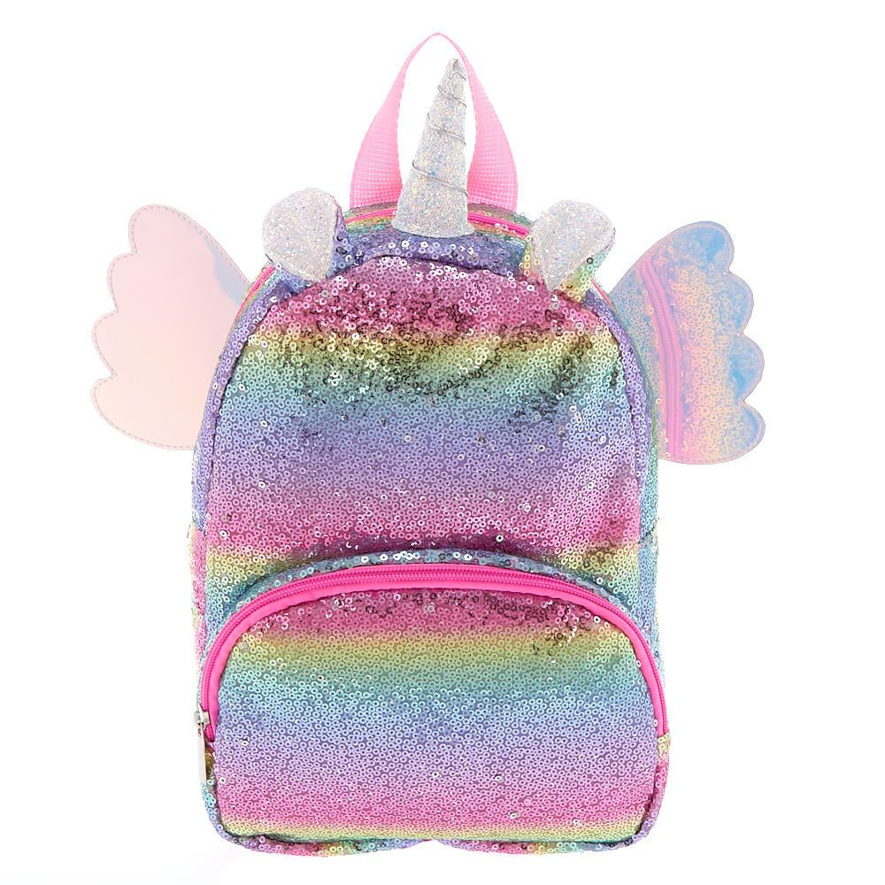 a286e93e6 Claire's Club Rainbow Flying Unicorn Sequins Backpack in 2019 ...