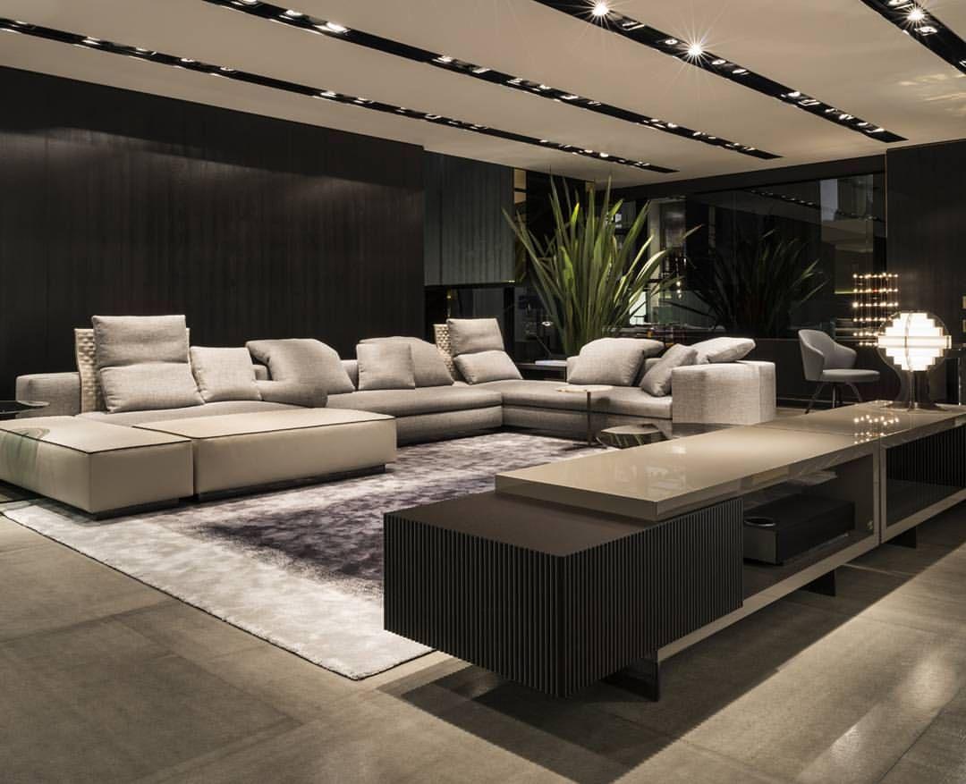 Elegante dise o de interiores destacan contraste de for Diseno de iluminacion de interiores