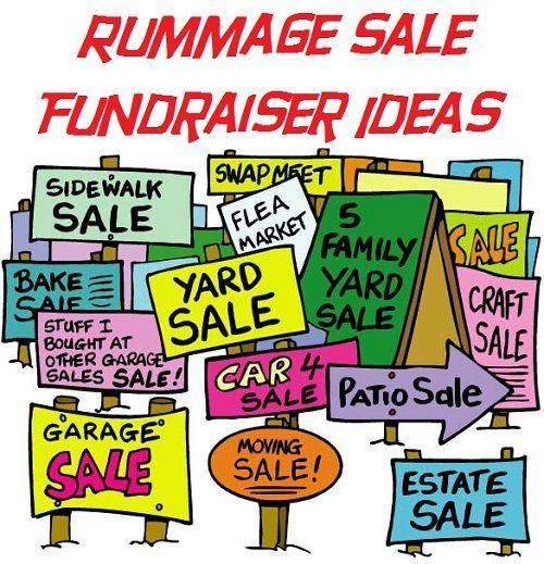 Church Rummage Sales This Weekend: Rummage Sale Fundraiser Ideas