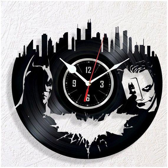 Reloj de pared de vinilo batman l ser pinterest - Relojes de vinilo ...