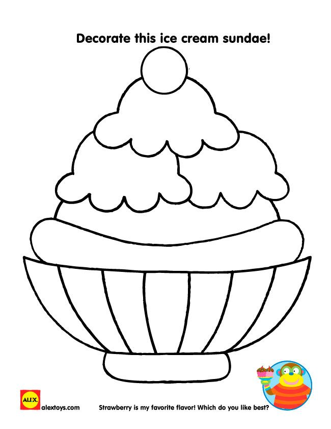 Printable Summer Activities Ice Cream Coloring Pages Ice Cream