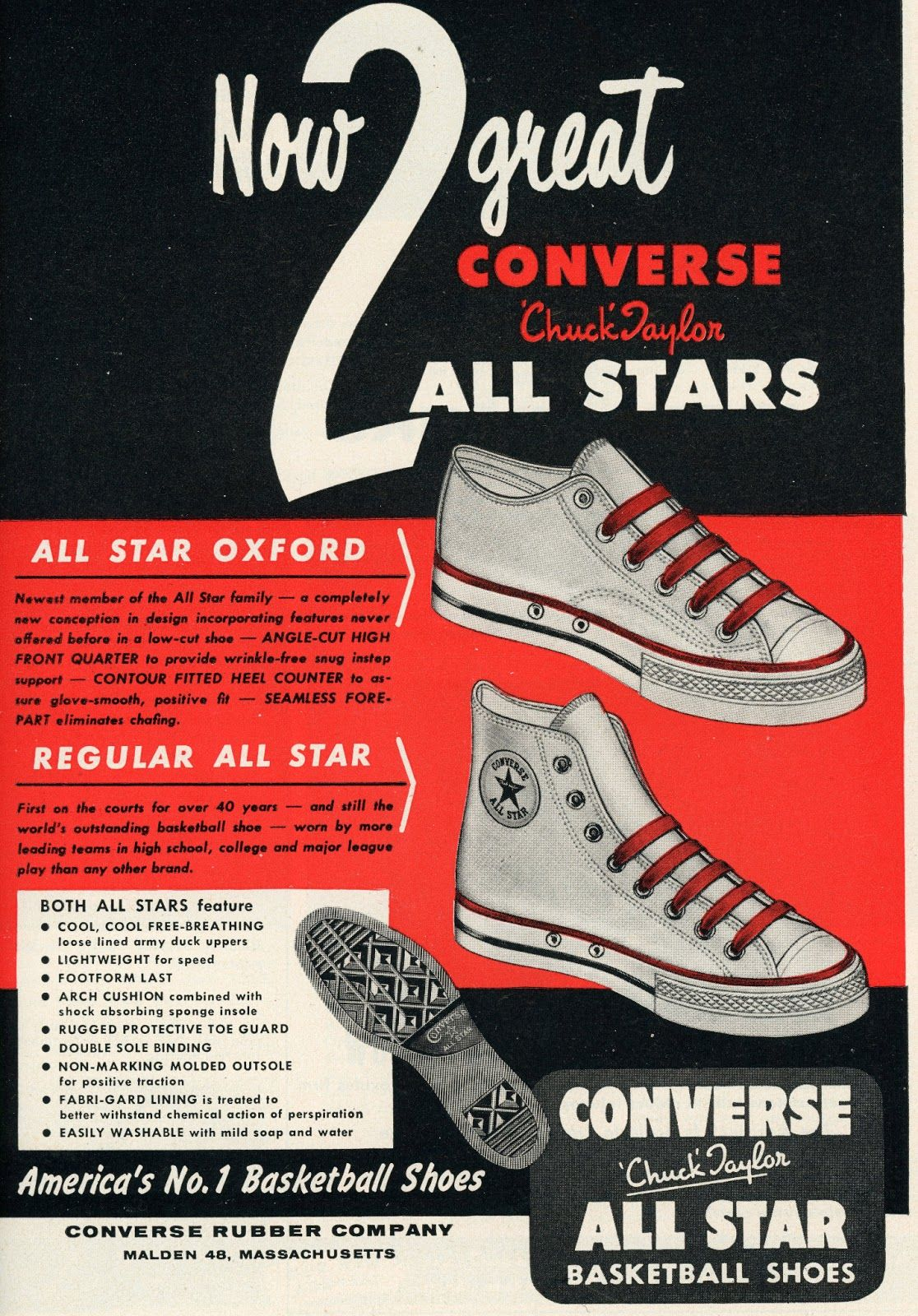 Shopping from the 1950s Sporting Goods Converse vintage