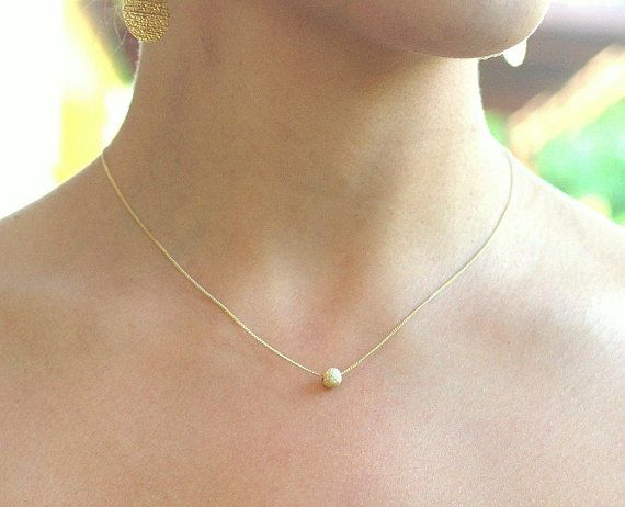 Gold necklace 14k gold filled dot necklace ball necklace small 2900 gold necklace 14k gold filled dot necklace ball necklace small pendant necklace audiocablefo