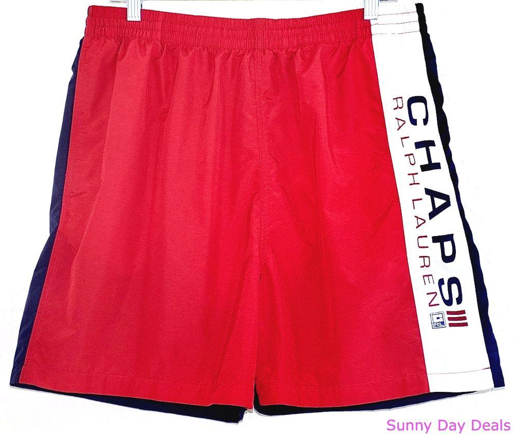 Awe Inspiring Details About Ralph Lauren Mens Swim Trunks Board Shorts Red White Short Hairstyles Gunalazisus