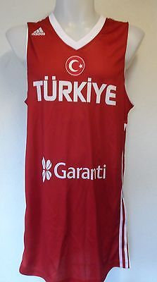 Turkey fiba #basketball #jersey by adidas size xl brand new