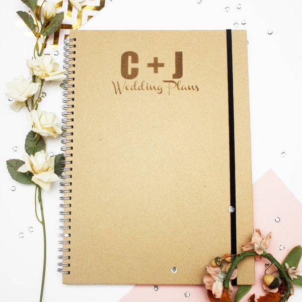 GLB Graphics Personalised \u0027Wedding Plans\u0027 Notebook ($21) ❤ liked on
