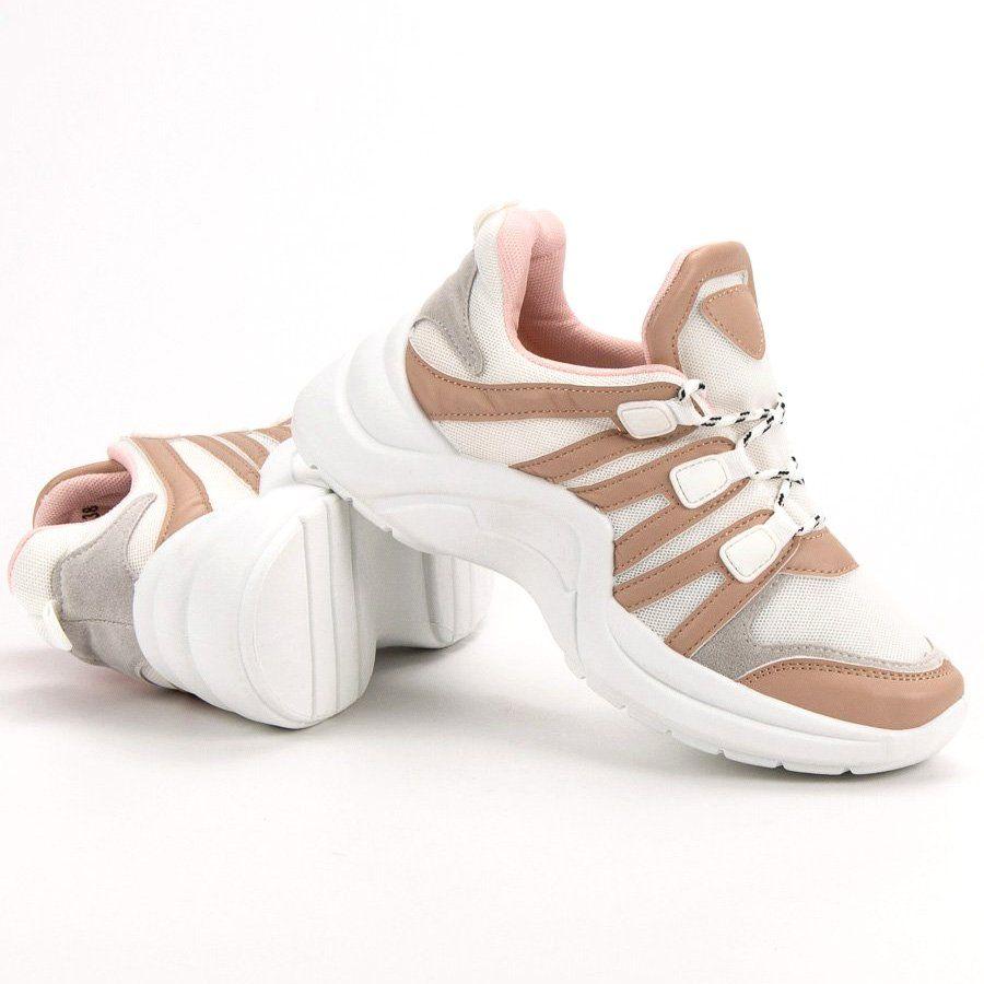 Kylie Wygodne Buty Sportowe Bezowy Shoes Adidas Samba Sneakers Adidas Sneakers