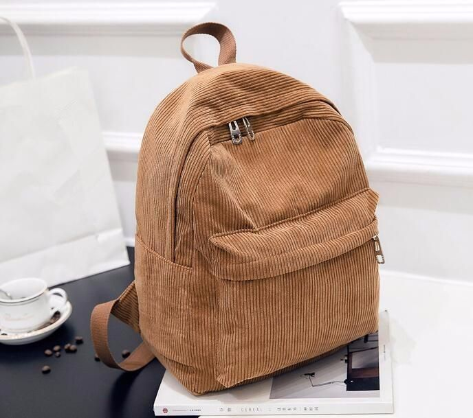 18cf7f09185 Corduroy Backpack - Shop Minu (bag) Korean Aesthetic Asian Women's Fashion