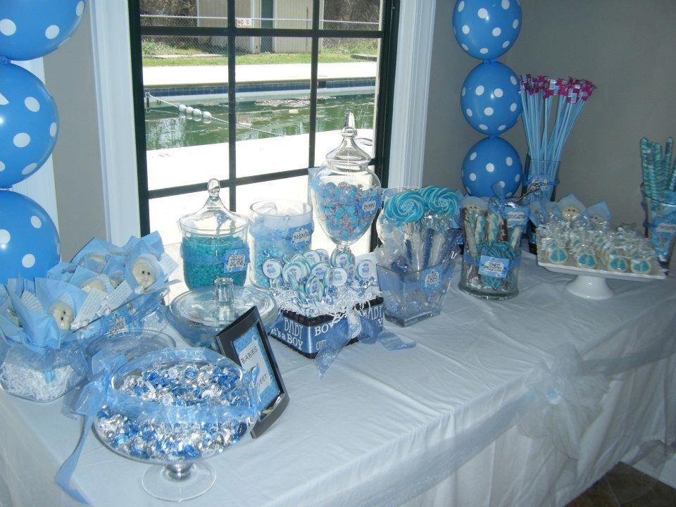 Candy Buffet Blue Boy Baby Shower Candy Buffet Blue Boy