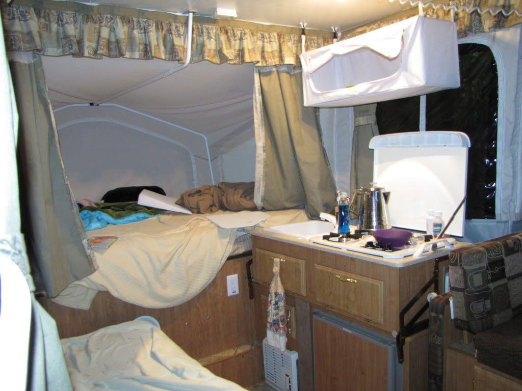 Vinyl Overhead Hanging Cabinet Camper Pop Up Camper
