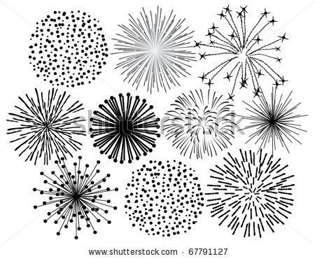 Fireworks art image top middle