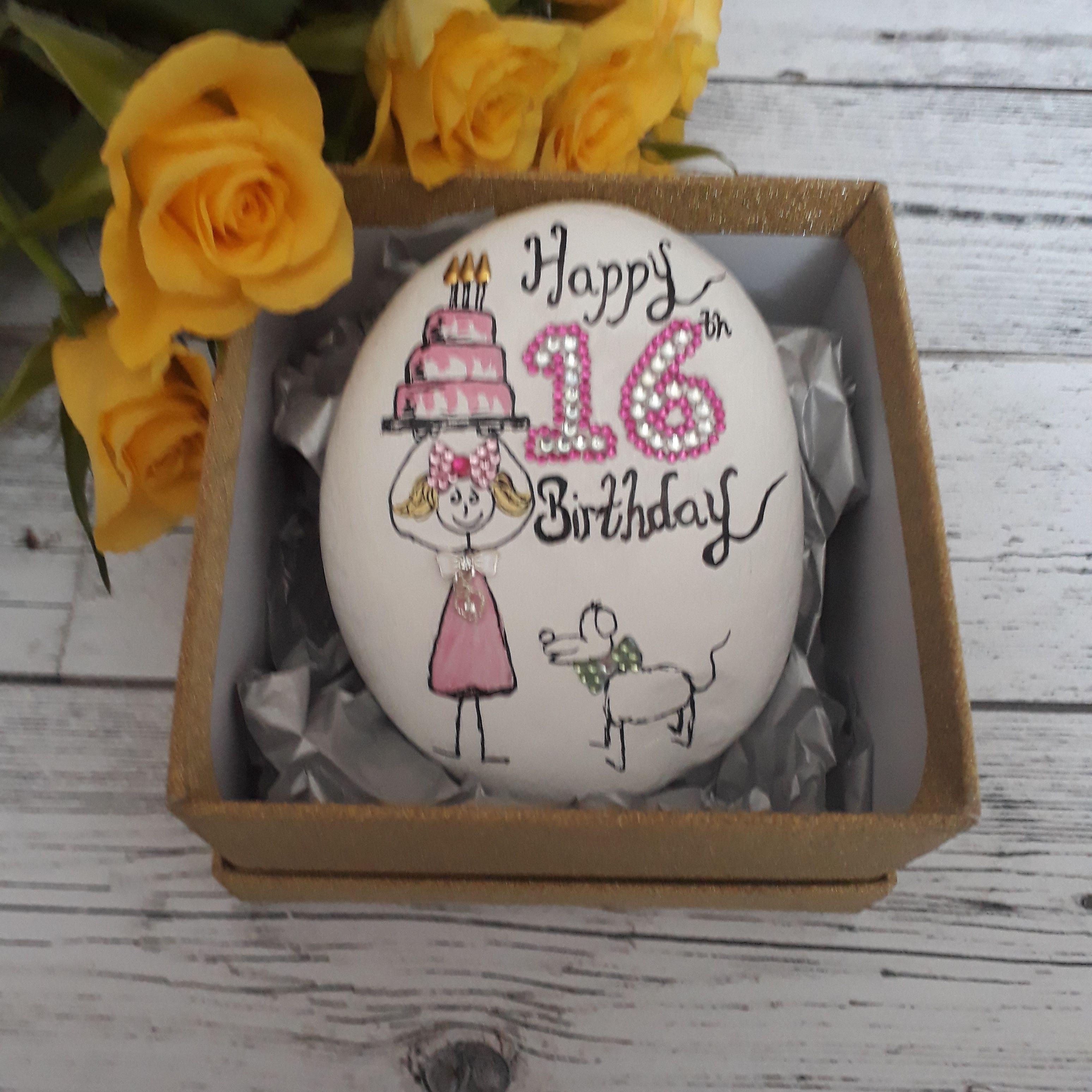 16th Birthday Gift Keepsakes