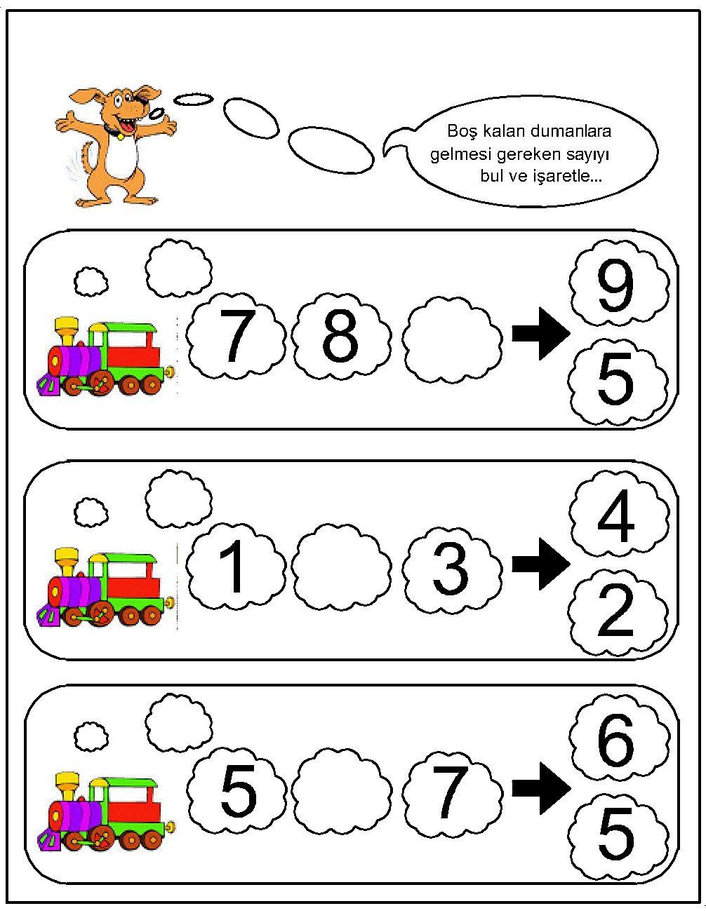 missing number worksheet for kids (20) Missing number