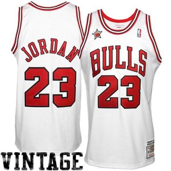 Camiseta Michael Jordan Vintage Mitchell   Ness Chicago Bulls ... 035ec2cc6cd