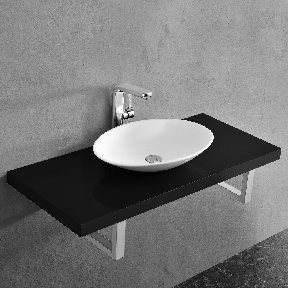 Details Sur Neu Haus Meuble Sous Vasque Pour Vasque Noir Brilliant Meuble Sous Vasque Lavabo Vasque