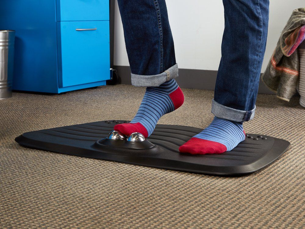 Roller Massaging Standing Desk Mat By Foamera In 2020 Standing Desk Mat Desk Mat Diy Standing Desk