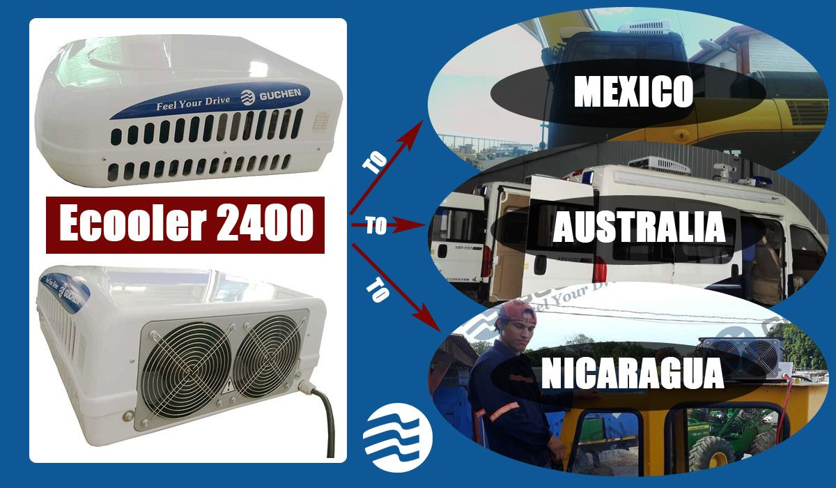 Air Conditioner Case Guchen Ecooler 2400 Air Conditioner For Van At South America Trucks Ac Units Cab