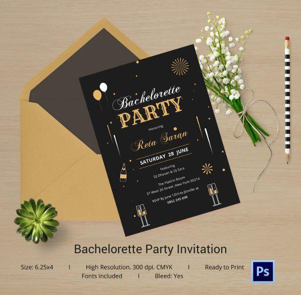 Bachelorette Party Invitations Template Free Unique