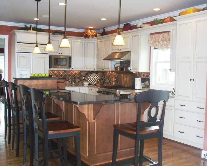 eat in kitchen island tile murals on show me your at kitchens forum gardenweb