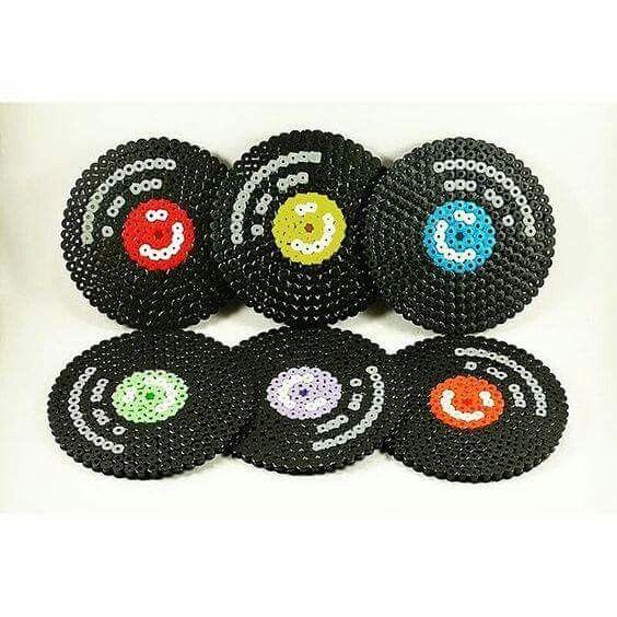 Records With Perler Beads Hama Beads Coasters Diy