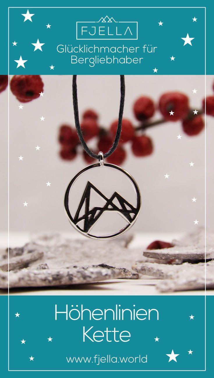 Abstrakte Halskette mit klaren Linien für Bergliebhaber   Pinterest ...