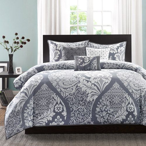 Home Essence Adela 6PC Cotton Sateen Printed Duvet Cover Bedding