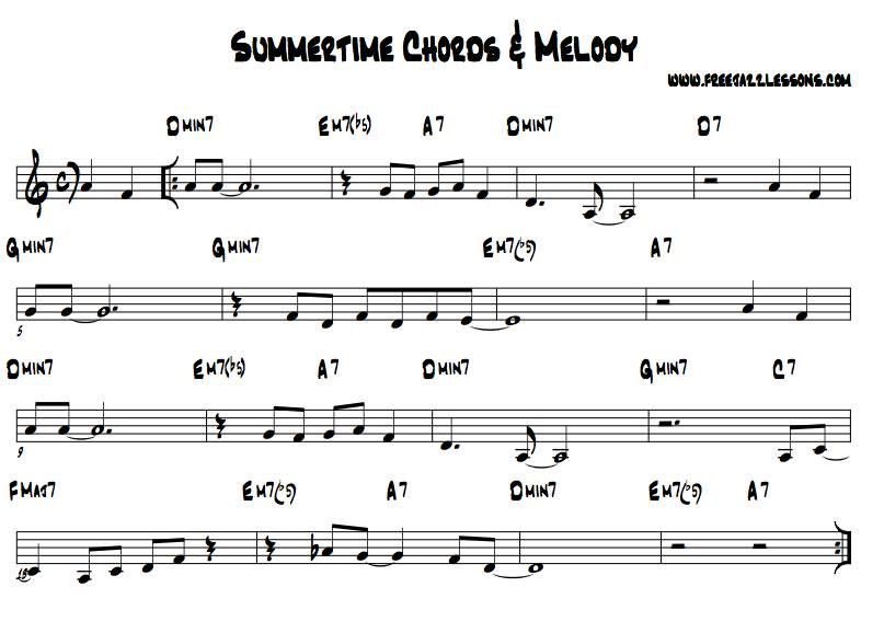 Summertime Sheet Music Pdf  Google Search  Musical Ideas For The