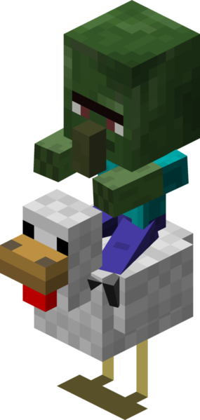 Minecraft Chicken Jockey With Baby Zombie Villager