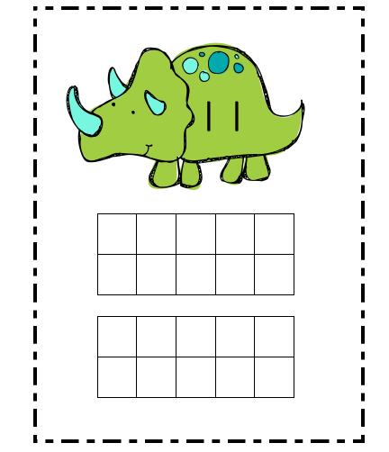 Ten Frame Fun With Dinosaurs  Math Freebie  Classroom Math