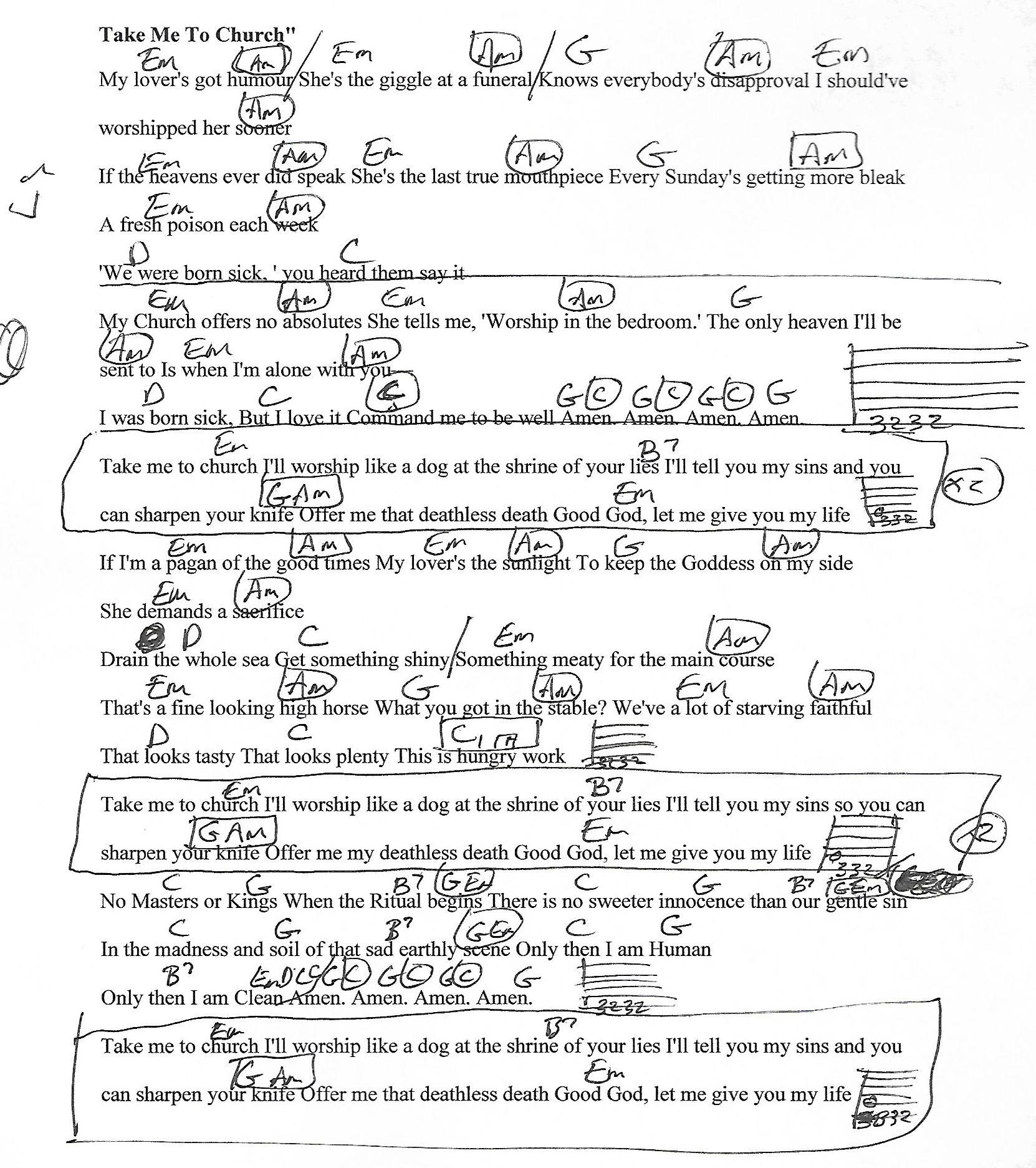 Take me to church hozier guitar chord chart with lyrics http take me to church hozier guitar chord chart with lyrics http hexwebz Images