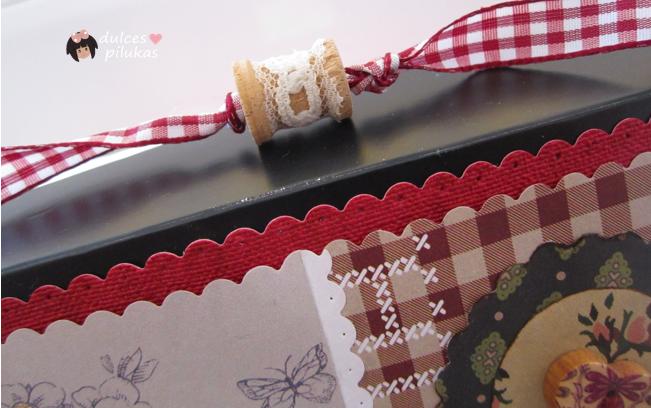 dulces pilukas: Caja decorada, reciclaje total