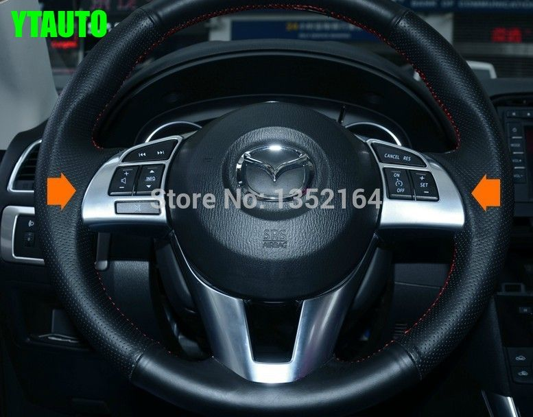 Auto Steering Wheel Cover,steer  Wheel Decoration Trim For Mazda 3 2013  2014 2015