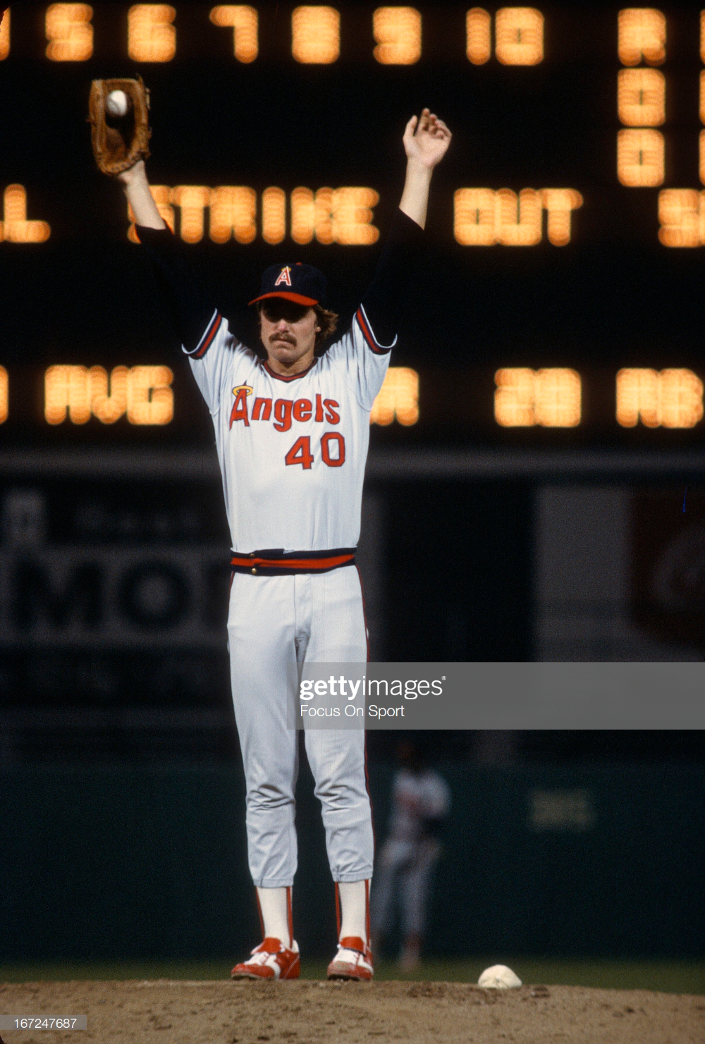 Frank Tanana Of The California Angels Stretches On The Mound During Angels Baseball Pittsburgh Pirates Baseball Major League Baseball Teams