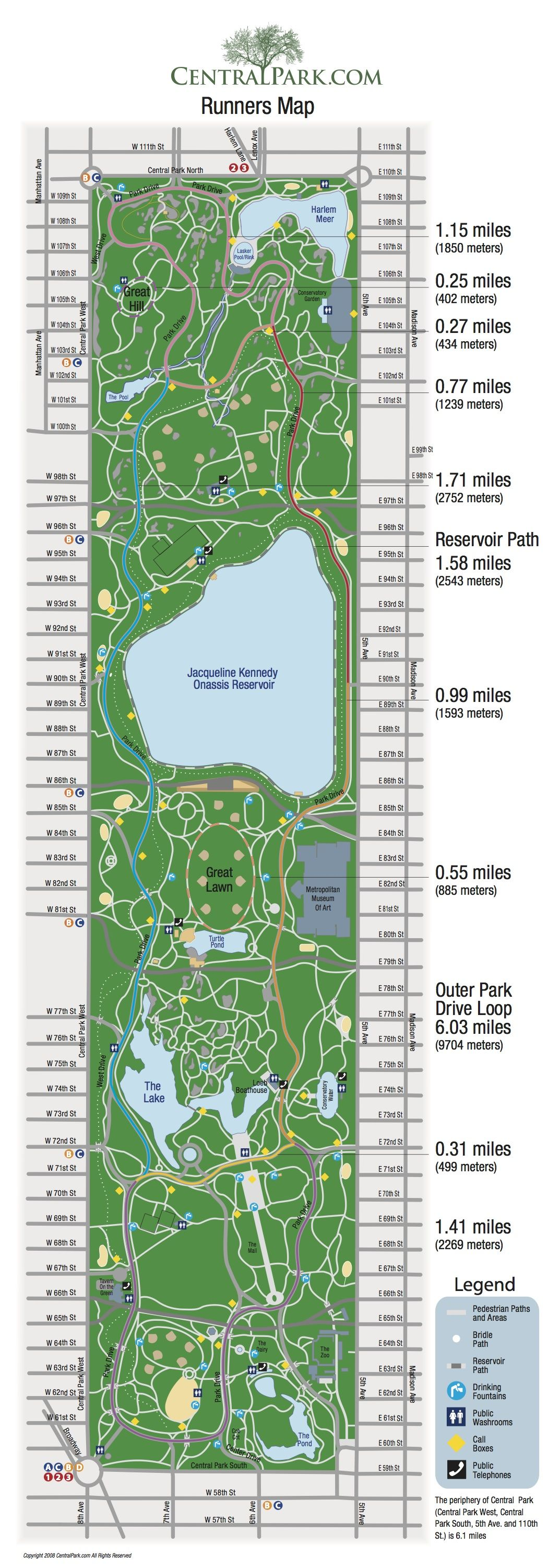 Outdoor Exercise Routes And Maps For Distances New York Toronto - How to map out a run