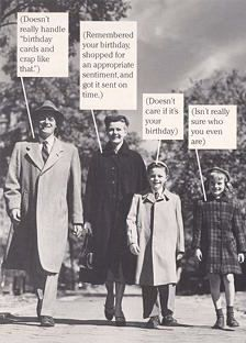 Retro Birthday Card Funny