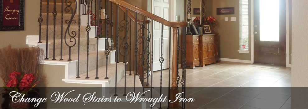 Stair Flair   Wrought Iron Stair Spindles   Dallas   Change Out Wood  Spindles For Wrought