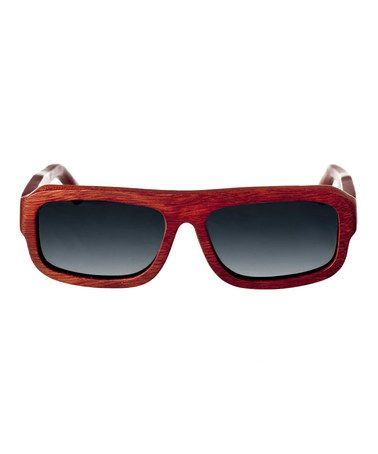 Another great find on #zulily! Red Rosewood Daytona Wood Sunglasses #zulilyfinds