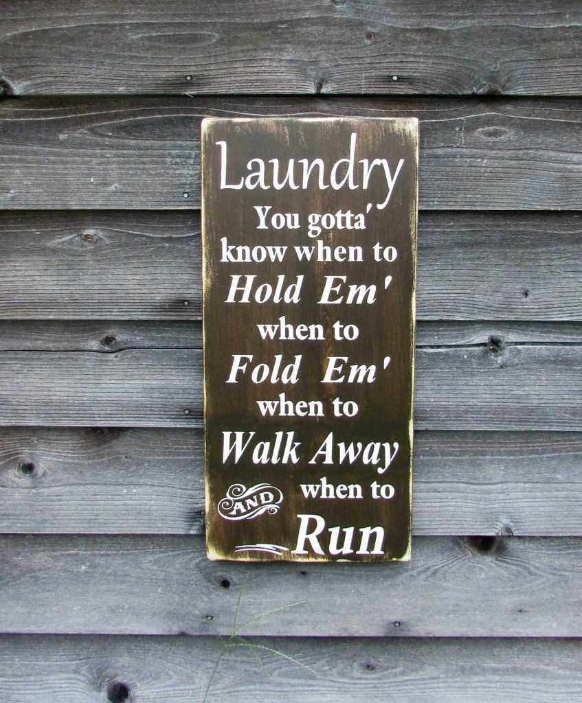 Hand Painted Primitive Rustic Laundry Sign This Funny Is And Distressed