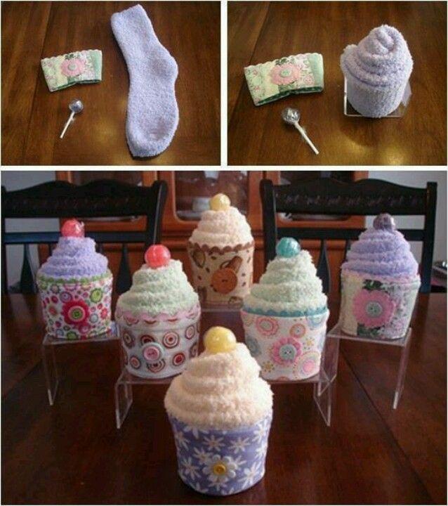 Cupcakes con calcetines