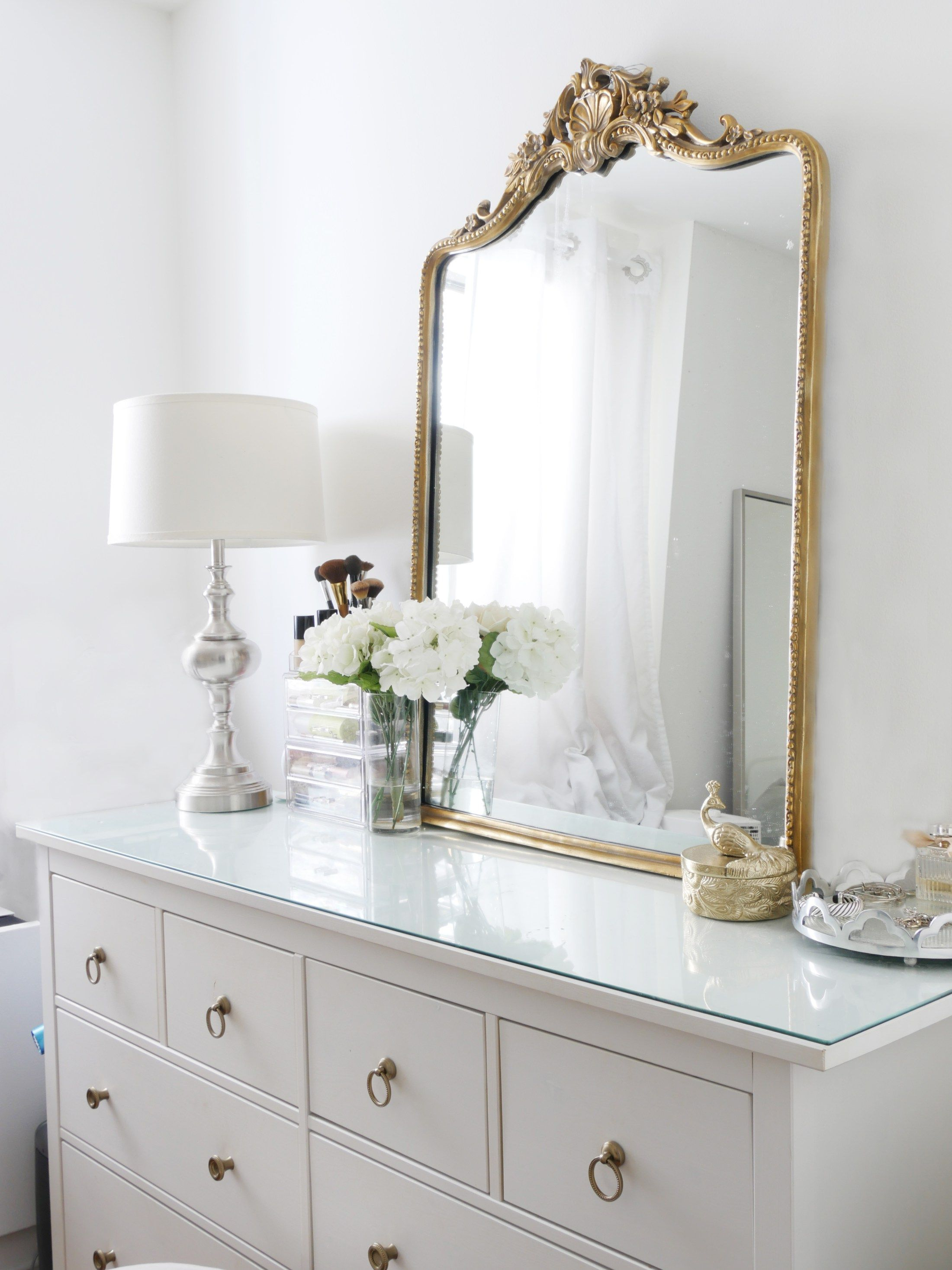 The Instant Trick To Making Your Dresser More Glamorous City Chic Decor Dresser Decor Bedroom Home Decor Bedroom Dresser Decor
