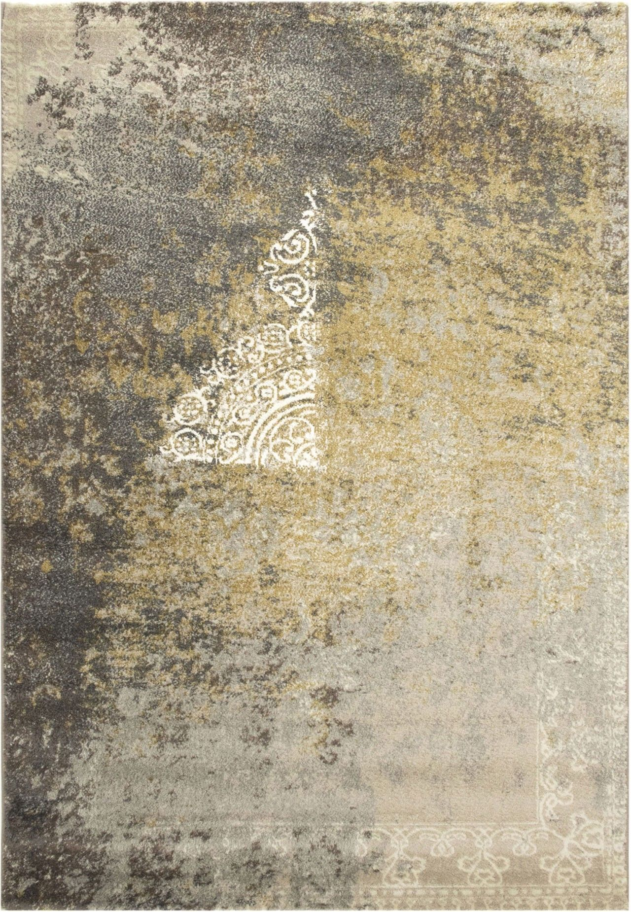Zara 9000 Beige Teppich Carpet Gelb Beige Braun Cream
