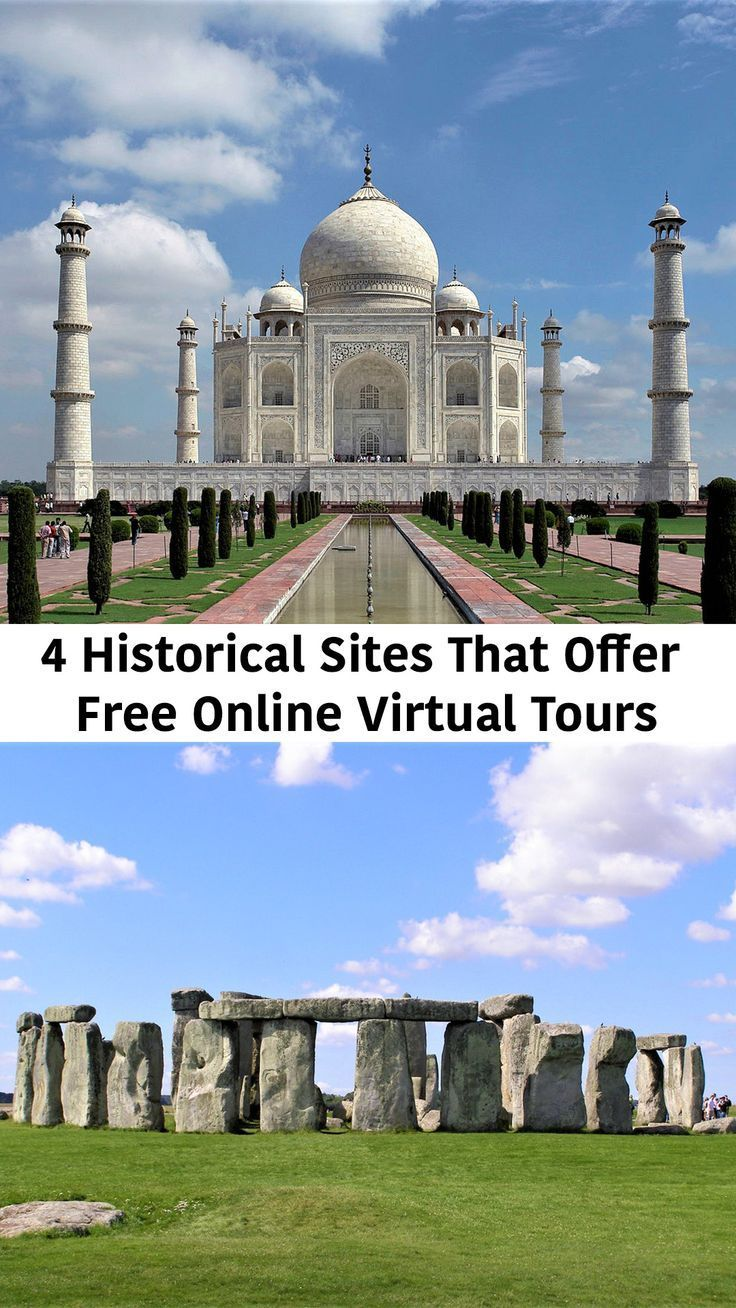The websites of some famous historical sites offer free online virtual tours, which you can enjoy from the comfort of your home.
