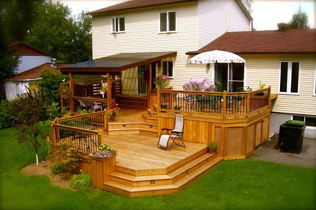 Multilevel Decks Patio Plus Multi Level Decks Backyard Patio