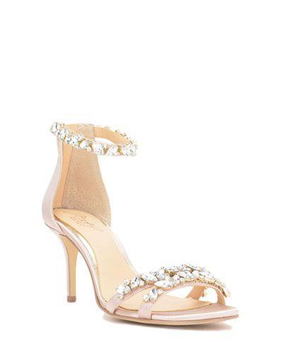 1149a441584 Caroline Embellished Strap Evening Shoe Rose Gold Wedding Shoes