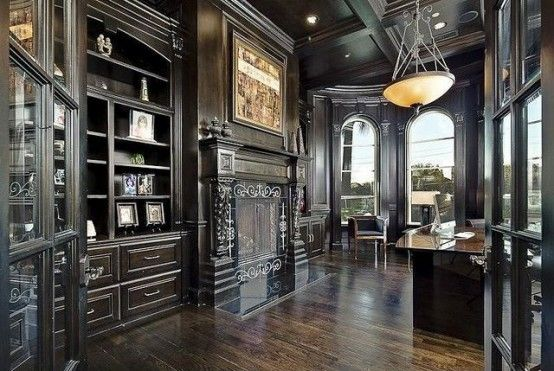 Goth Interior Design 21 Gorgeous Gothic Home Office And Library Décor Ideas  Digsdigs .