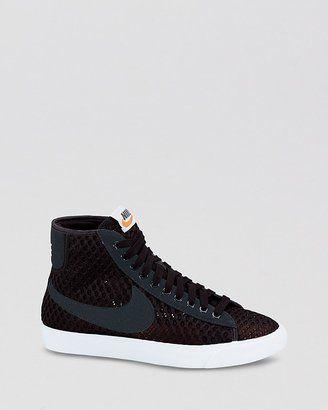 Nike Lacets Baskets Montantes - Blazer Pour Femmes Mi Maillés