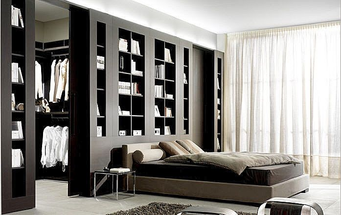 chambre design avec dressing. Black Bedroom Furniture Sets. Home Design Ideas