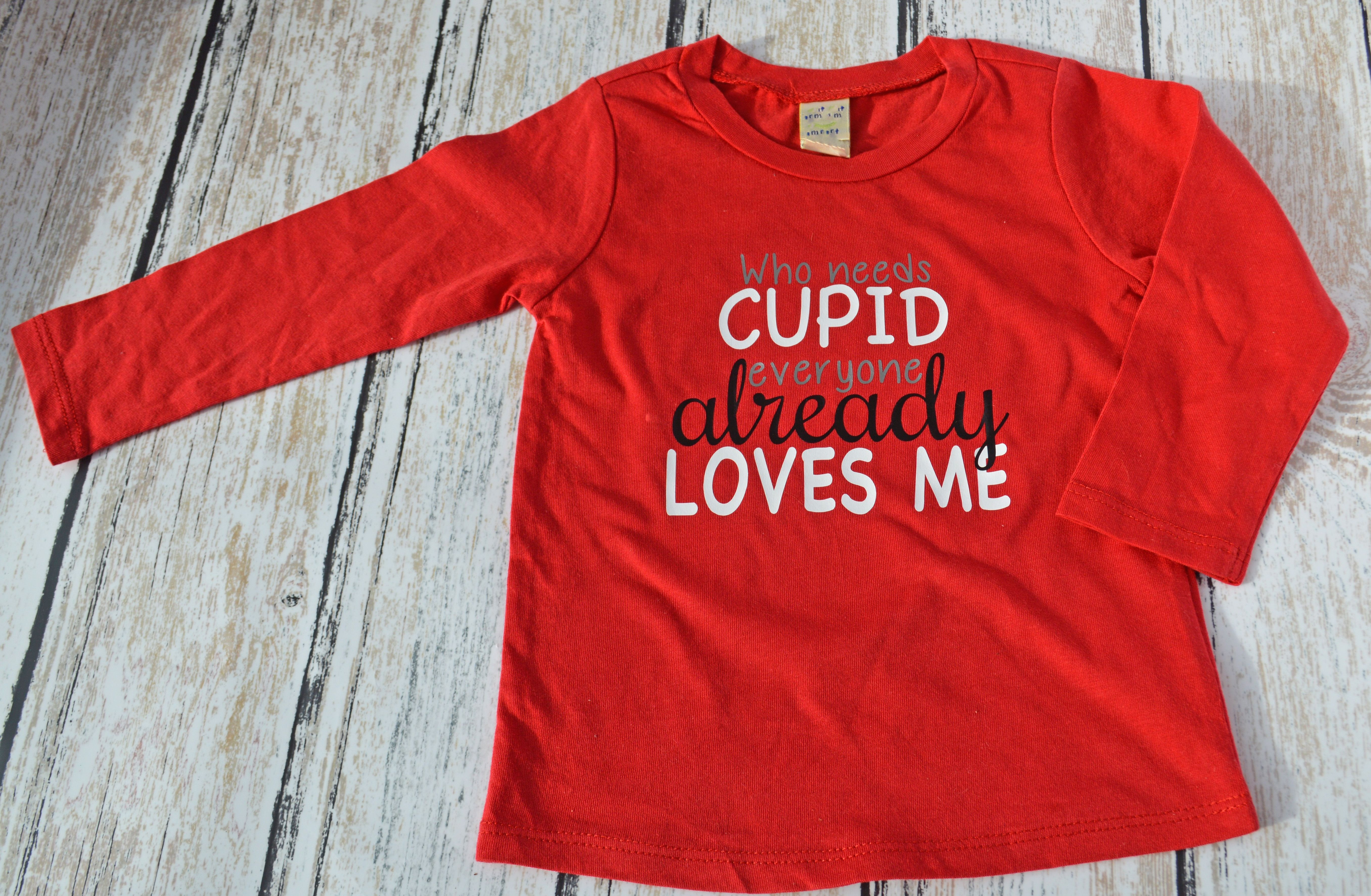 Who needs Cupid, everyone already Loves Me kids Valentine's Day Shirt | Funny Shirt (scheduled via http://www.tailwindapp.com?utm_source=pinterest&utm_medium=twpin&utm_content=post136600651&utm_campaign=scheduler_attribution)
